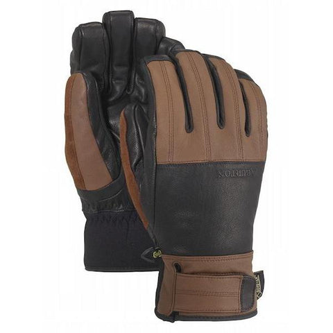 Burton Gondy Gore-Tex Leather Glove, Med Brown/True Black-Glove-Burton-S-