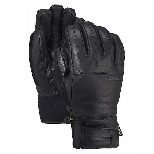 Burton Gondy Gore-Tex Leather Glove, True Black-Glove-Burton-S-