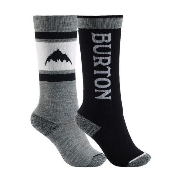 Burton Kids Weekend Mid Weight Sock 2Pk-Snowboard Socks-Burton-True Black-XS\S-