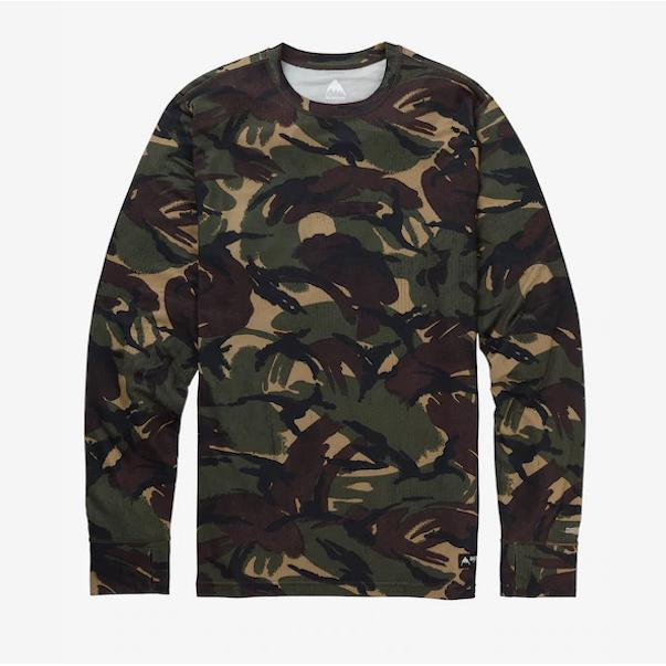 Burton Mid Weight Crew Seersucker Camo-Thermal-Burton-S-