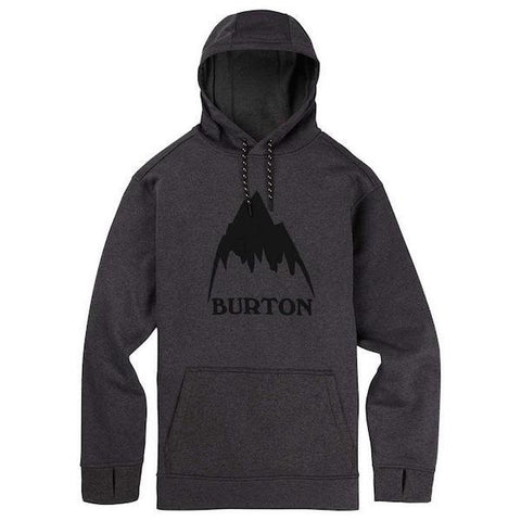 Burton Oak Pullover, Heather Black/True Black-Hoodie-Burton-S-