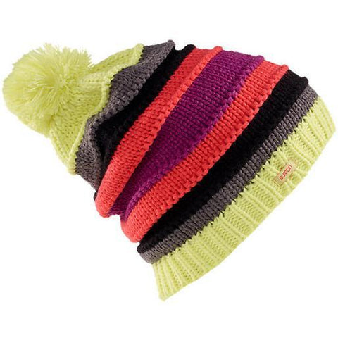 Burton W Candy Stripe Beanie Sunny Lime - First Tracks Boardstore