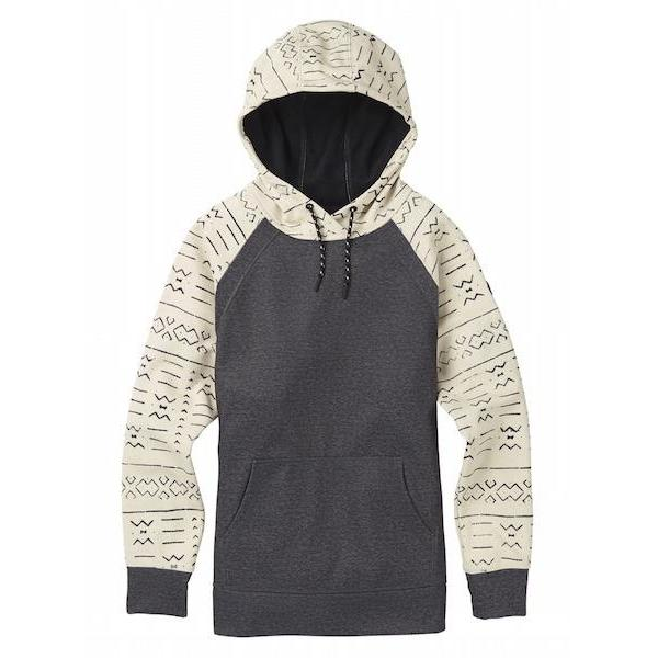 Burton Wms Crown Bonded Pullover, Canvas Bogo/ True Black Heather-Hoodie-Burton-S-
