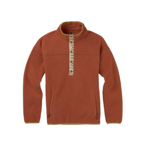Burton Wms Hearth Fleece Pullover, Hot Sauce-Fleece-Burton-S-