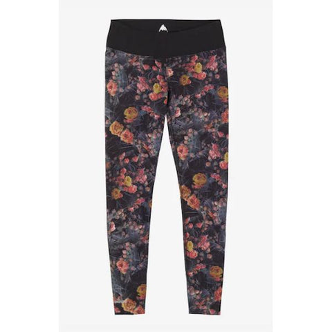 Burton Wms Mid Weight Pant Prickly Pear/True Black-Thermal-Burton-S-Prickly Pear/ True Black-