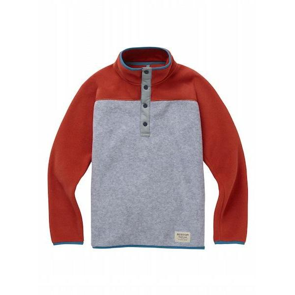 Burton Youth Spark Fleece Anorak, Grey Heather/Bitter-Fleece-Burton-XS-