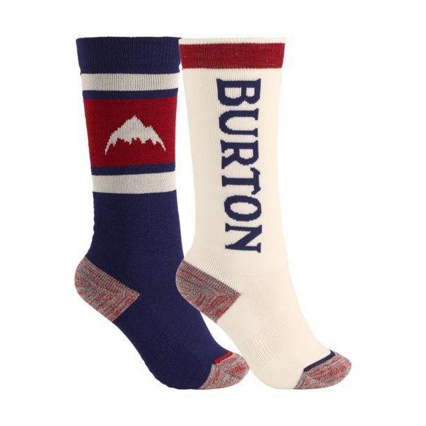 Burton Youth Weekend Mid Weight Sock 2Pk-Snowboard Socks-Burton-Mood Indigo-XS\S-