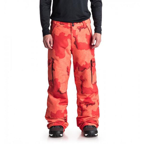 DC Banshee Pant, Red Orange Camo - First tracks Boardstore