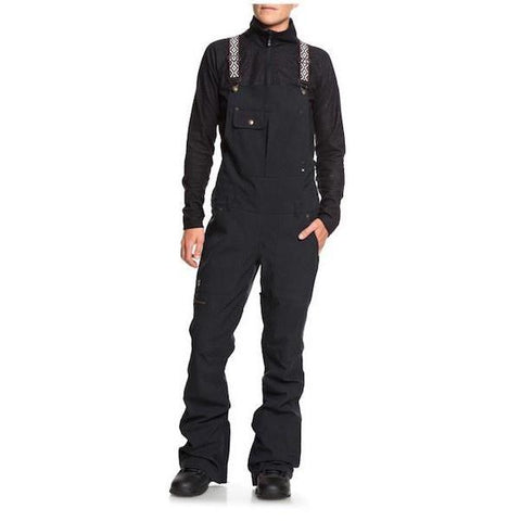 DC Wms Collective Bib Pant, Bio Wash Black 2019 - First Tracks Boardstore