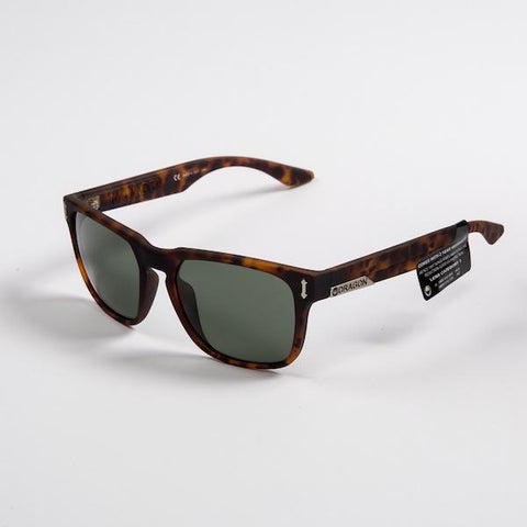Dragon Monarch Sunglass, Matte Tortoise w/ Green G15 - First Tracks Boardstore