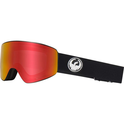 Dragon PXV Goggle, Black w/ LL Red Ion + LL Rose - First tracks Boardstore