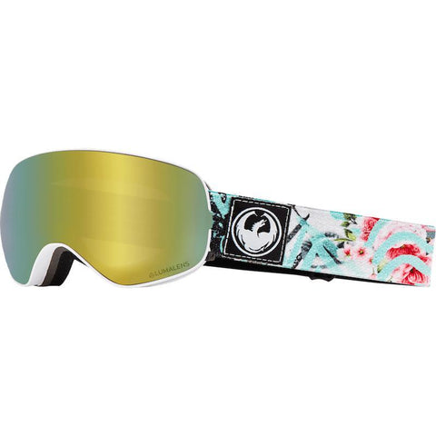 Dragon X2s Goggle, Flaunt w/ LL Gold Ion + LL Dark Smoke-Goggle-Dragon-