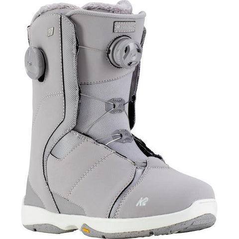 K2 Contour Women's Snowboard Boot 2019 Lavender Grey - First Tracks Boarstore