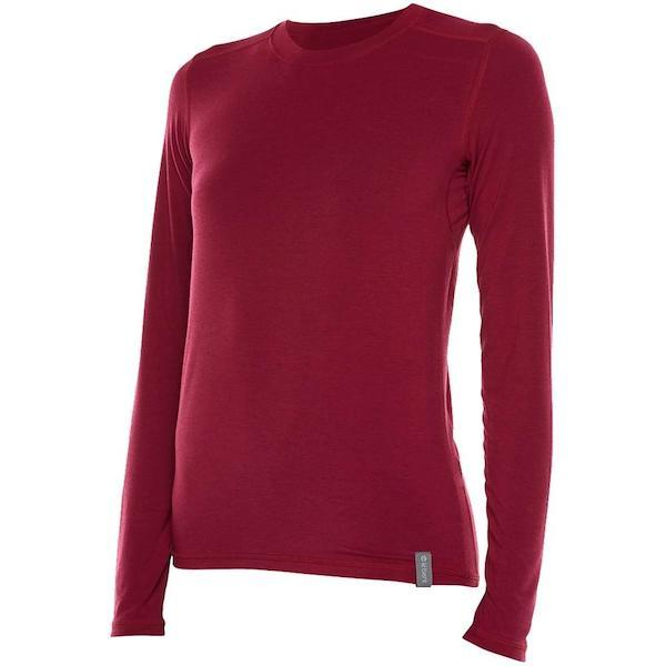 Le Bent Womens Definitive Le Base Crew 200g-Thermal-Le Bent-Pomegranate-L-