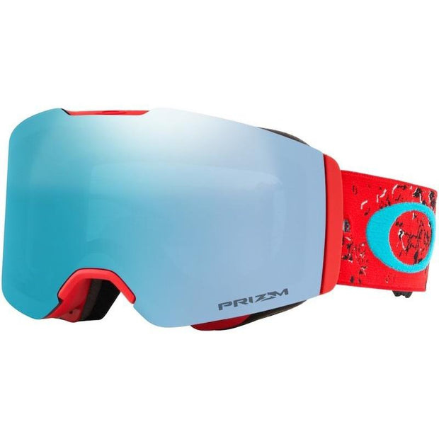 Oakley Fall Line Goggle Arctic Fracture Red Sea w/ Prizm Sapphire - First Tracks Boardstore