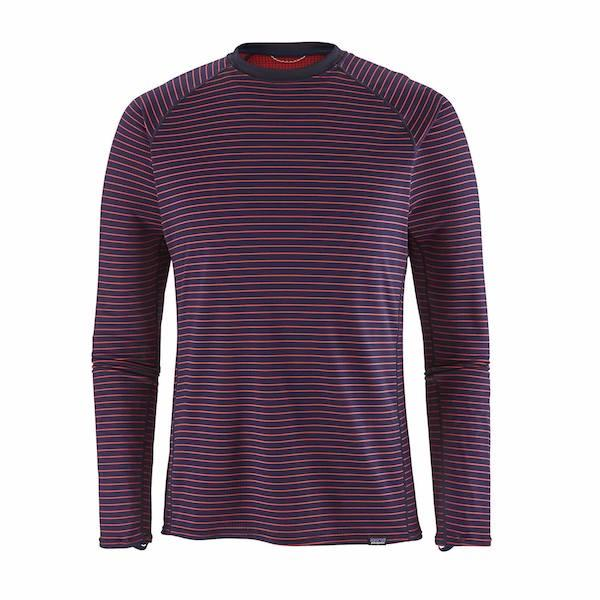 Patagonia Capilene Mid Weight Thermal Crew, Retro Stripe-Thermal-Patagonia-Retro Stripe/ Navy Blue-M-