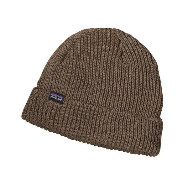 Patagonia Fishermans Rolled Beanie, Ash Tan - First tracks Boardstore