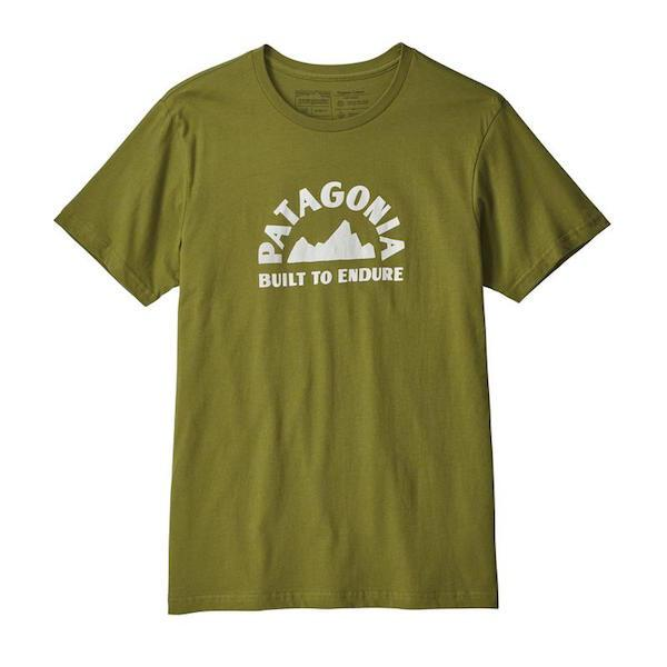 Patagonia Geologers Organic T-Shirt, Green - First tracks Boardstore