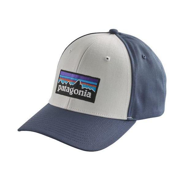 Patagonia P6 Logo Roger that Hat - White / Dolomite Blue - First Tracks Boardstore