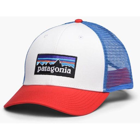 Patagonia P6 Trucker Hat - White, Fire, Andes Blue - First Tracks Boardstore
