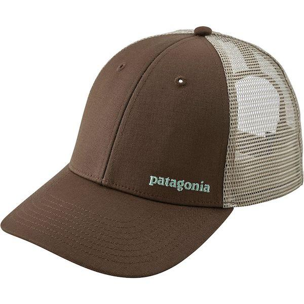 Patagonia Small Text Logo LoPro Trucker Hat, Timber Brown - First Tracks Boardstore
