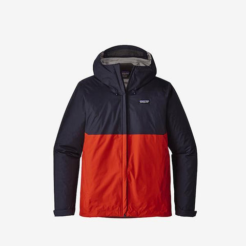 Patagonia Torrentshell Jacket, Navy Blue/ Red - First Tracks Boarstore