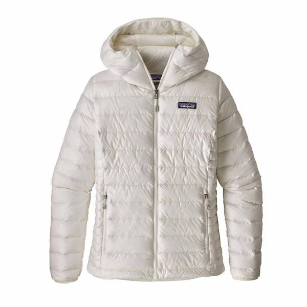 Patagonia Wms Down Sweater Hoodie, Birch White-Down Jacket-Patagonia-Birch White-S-