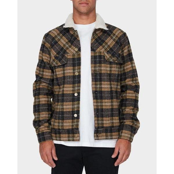 RVCA Daggers Plaid Sherpa Jacket-Casual Jacket-RVCA-Plaid-S-