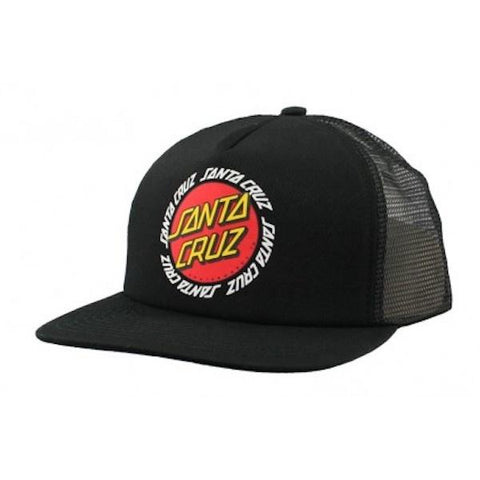 Santa Cruz Ringed Dot Trucker -Black-Cap-Santa Cruz-