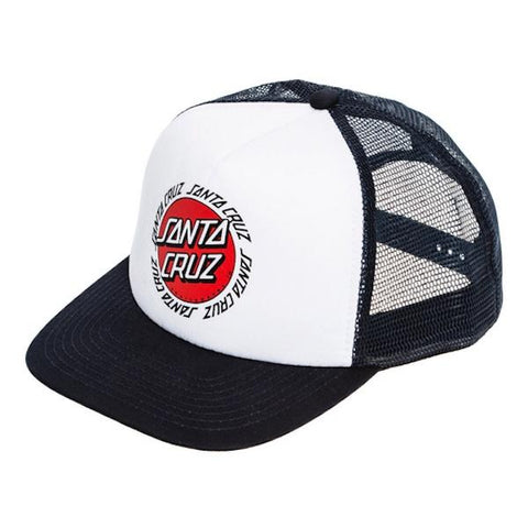 Santa Cruz Ringed Dot Trucker Navy/White-Cap-Santa Cruz-