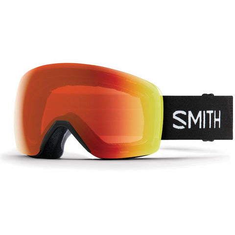 Smith Skyline Goggle Asian Fit Black/ Chromapop Everyday Red Mirror - First Tracks Boardstore