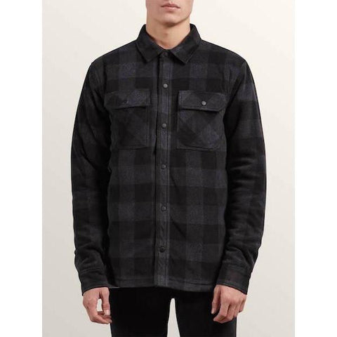 Volcom Bower Polar Fleece-Shirt-Volcom-Ash Black-M-
