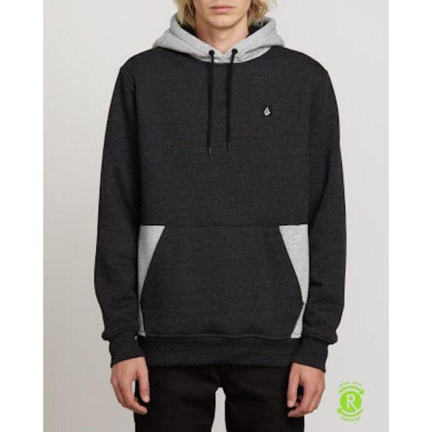 Volcom Single Stone Division Lined Pullover-Hoodie-Volcom-Heather/ Black-S-