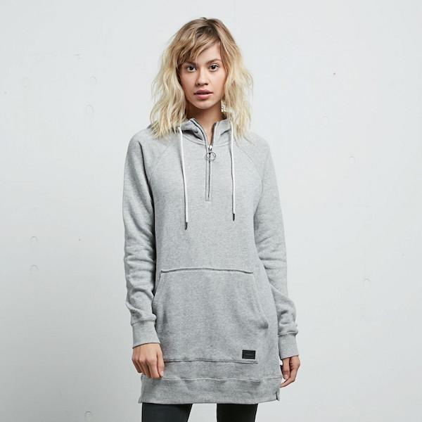 Volcom Wms I Want More Long Pullover-Hoodie-Volcom-Grey-8-