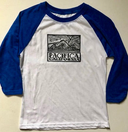 PACIFICA PEDRO POINT SUNSET KIDS BASEBALL TEE