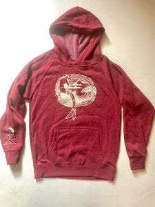 CRIMSON YOUTH PULL OVER HOODIE
