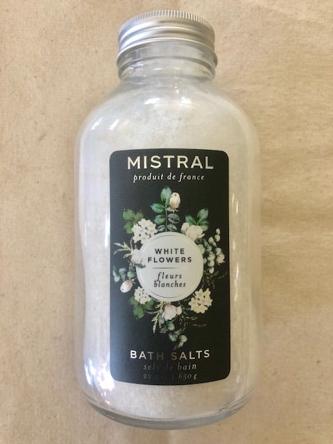 WHITE FLOWERS MISTRAL BATH SALTS