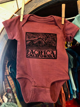 Load image into Gallery viewer, PACIFICA PEDRO POINT SUNSET BABY ONESIE