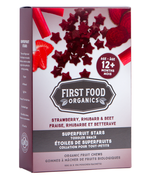 Organic Superfruit Stars Toddler Snack - Strawberry Rhubarb & Beet 90g