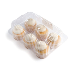 Vanilla Cupcake Clamshell - 6 pack **GTA ONLY**