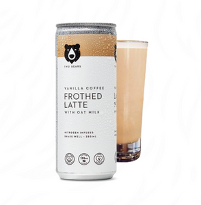 Two Bears Frothed Vanilla Oat Milk Latte - 250ml 6 pack