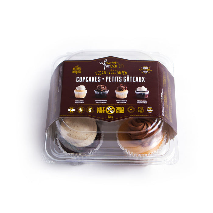Chocolate & Vanilla Cupcake 4-pack - 320g **GTA ONLY**