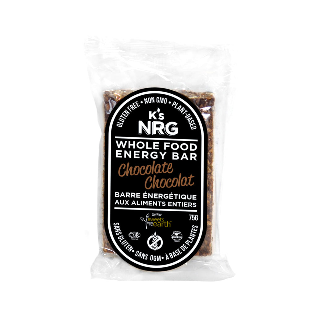 K's NRG Whole Food Energy Bars Chocolate - 75g x 6 pack
