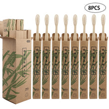 Load image into Gallery viewer, 8pcs Eco-friendly Travel Bamboo Toothbrushes