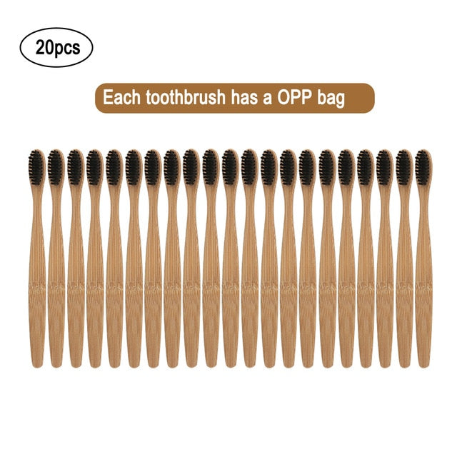 20pcs Eco-Friendly Bamboo Tooth Brush