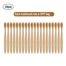 Load image into Gallery viewer, 20pcs Eco-Friendly Bamboo Tooth Brush