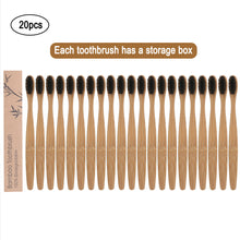 Load image into Gallery viewer, 20pcs Natural Bamboo Toothbrushes