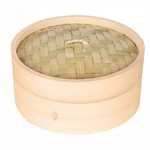 Load image into Gallery viewer, One Cage and One Cover Cooking Bamboo Steamer