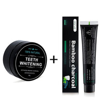 Load image into Gallery viewer, Teeth Whitening Kit Charcoal Powder Bamboo with Toothbrush