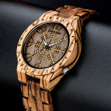Load image into Gallery viewer, Engrave Pattern Wood Watch